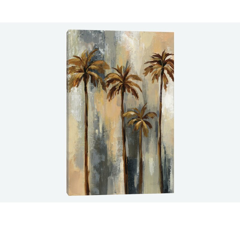East Urban Home Palm Trees Ii Graphic Art Print On Wrapped Canvas Wayfair
