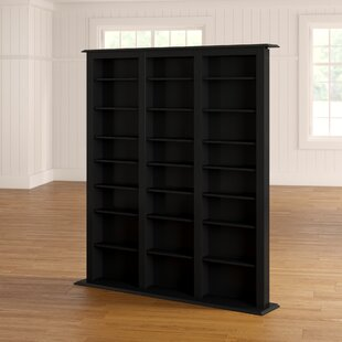 Deliah Triple Width Black Barrister Storage Tower