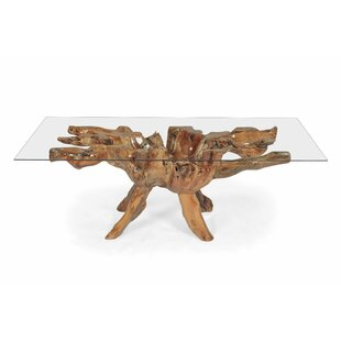 Ironton Teak Root Wood Dining Table Highland Dunes