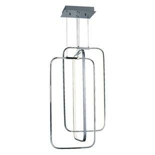 Orren Ellis Hesperus 3-Light LED Square/Rectangle Chandelier