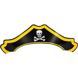 Pirate Hat Paper Disposable Party Favor (Set of 24)