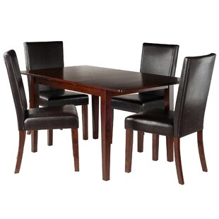 Innsbrook 5 Piece Solid Wood Dining Set Charlton Home