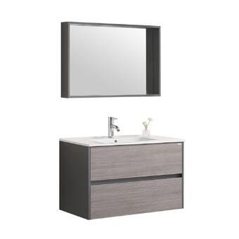 Orren Ellis Lefever 71 Wall Mounted Single Bathroom Vanity Set Wayfair