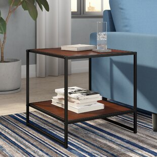 Mercury Row Edgar Set of Two 20 Inch Square Side Tables/Night Stands
