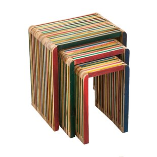 Ryhill Recycled Teak Accent 3 Piece Nesting Tables by Bloomsbury Market