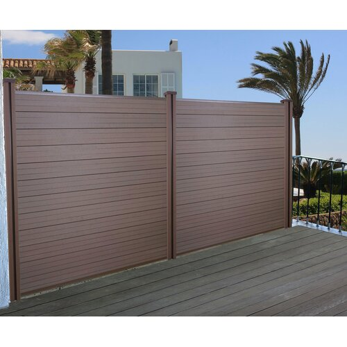 195 cm x 189 cm Balkonsichtschutz Keenan | Garten > Balkon > Sichtschutz | Braun | Holz - Kunststoff - Bambus | Garten Living