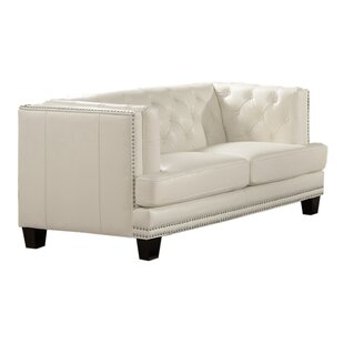 Crewellwalk Chesterfield Loveseat by Rosdorf Park