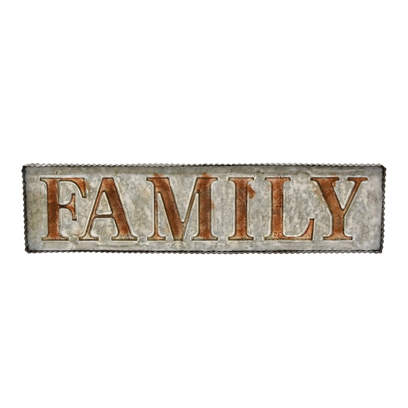 August Grove Family Metal Wall Décor | Wayfair