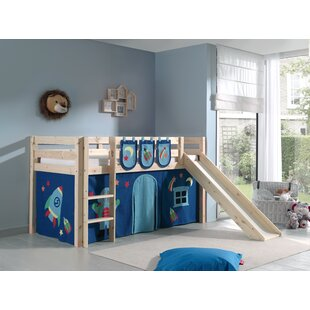 Ethridge European Single Mid Sleeper Bed With Textile Set By Zoomie Kids