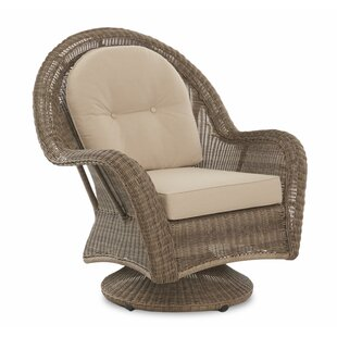 August Grove Brody Patio Swivel Chair wit..