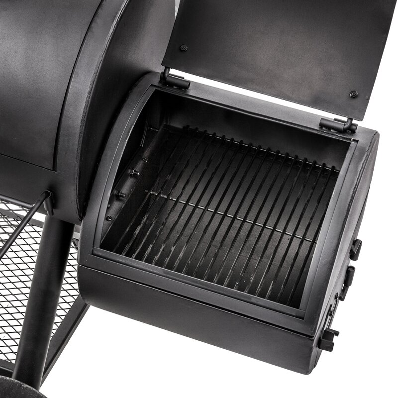 Oklahoma Joe's Longhorn Reverse Flow Offset Charcoal Smoker and Grill