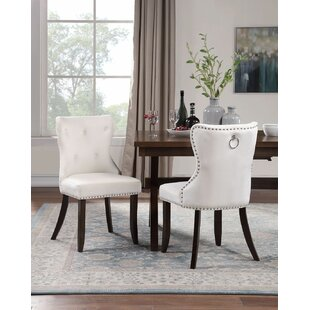 Vergas Tufted Velvet Upholstered Parsons Chair Set of 2