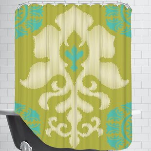 Ikat Teal Single Shower Curtain