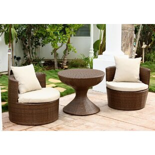 Banker 3 Piece Conversation Set with Cushions by Wade Logan
