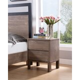 Pricilla 2 - Drawer Nightstand in Light Brown by Millwood Pines