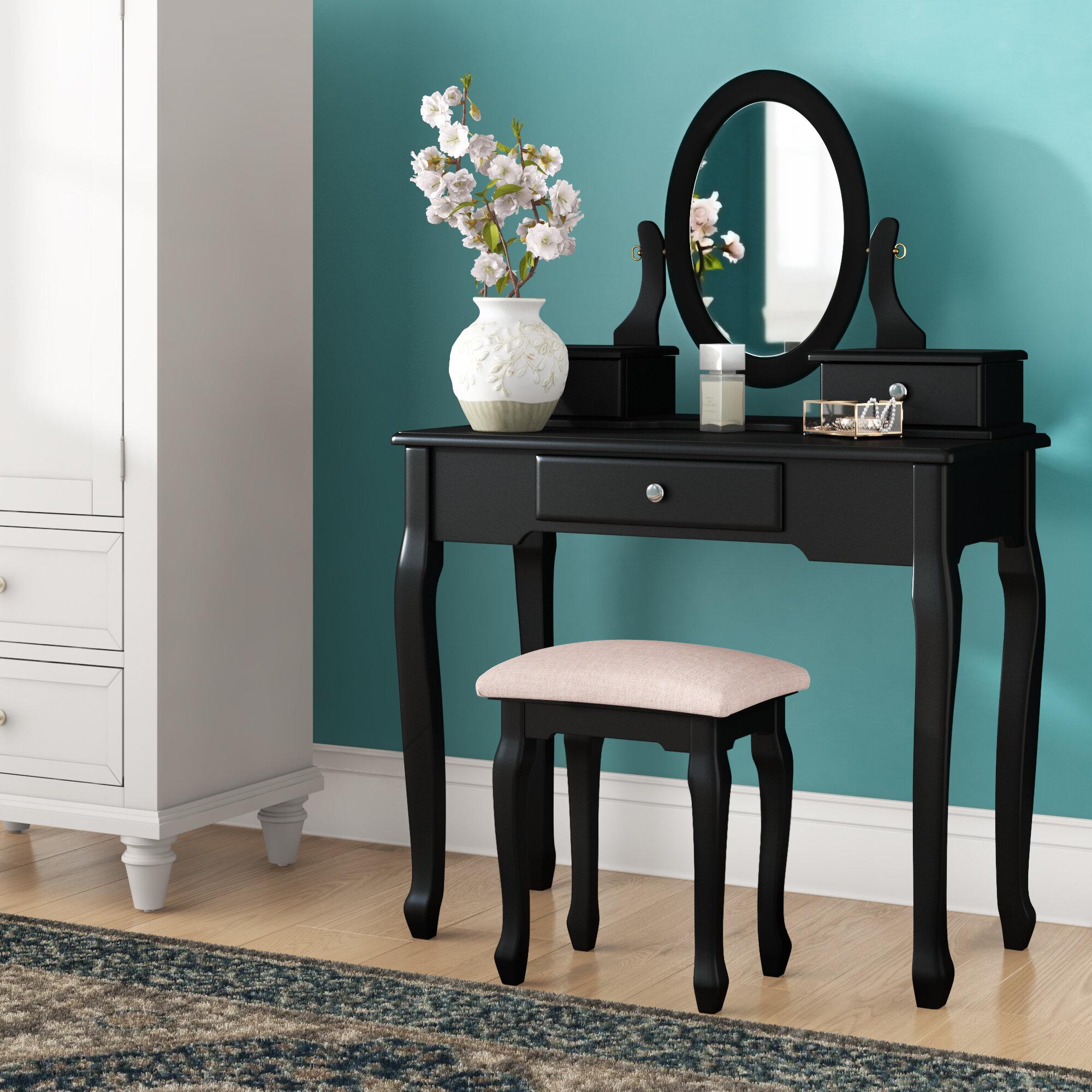 Charlton Home Neihart Vanity Set With Mirror Reviews Wayfair Ca