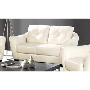 Ebern Designs Swink Leather Loveseat