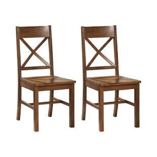 Alderwood Solid Wood Dining Chair (Set Of 2) By Ophelia & Co.