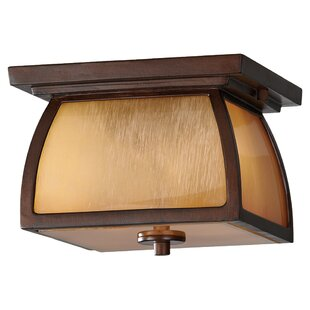 Deals Alhambra 2-Light LED Outdoor Flush Mount By Loon Peak