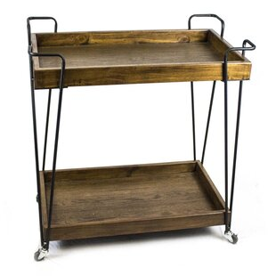 Sagebrook Home 2-Tier Bar Cart