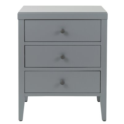 Rushville 3 Drawer Nightstand Color: Gray by Andover Mills