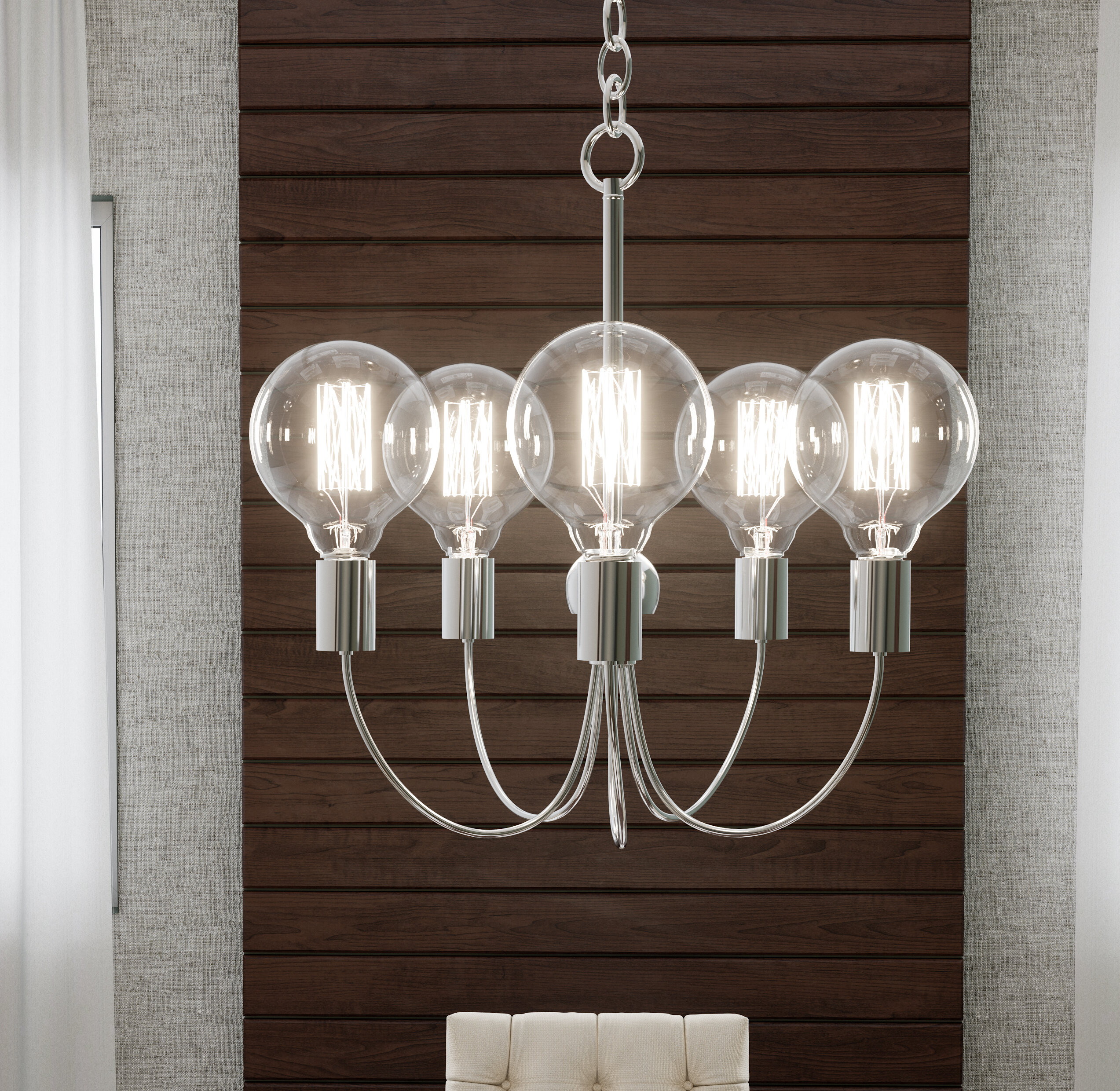 Wrought Studio Duluth 5 Light Candle Style Classic Traditional Chandelier Wayfair