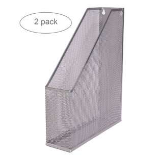 YBM Home Mesh Steel Magazine File Holder (Set of 2)