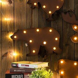 Marquee Led Lighted Bear Wall Décor