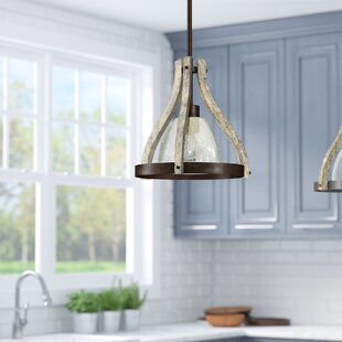 Lark Manor Oceane 1-Light Teardrop Pendant
