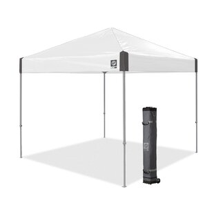 Ambassador Instant Shelter 10 Ft. W x 10 Ft. D Metal Pop-Up Canopy by E-Z UP