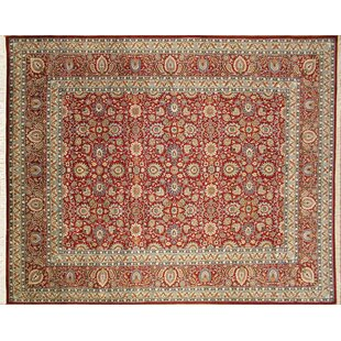Pak-Persian Simin Hand Knotted Wool Red Area Rug ByNoori Rug