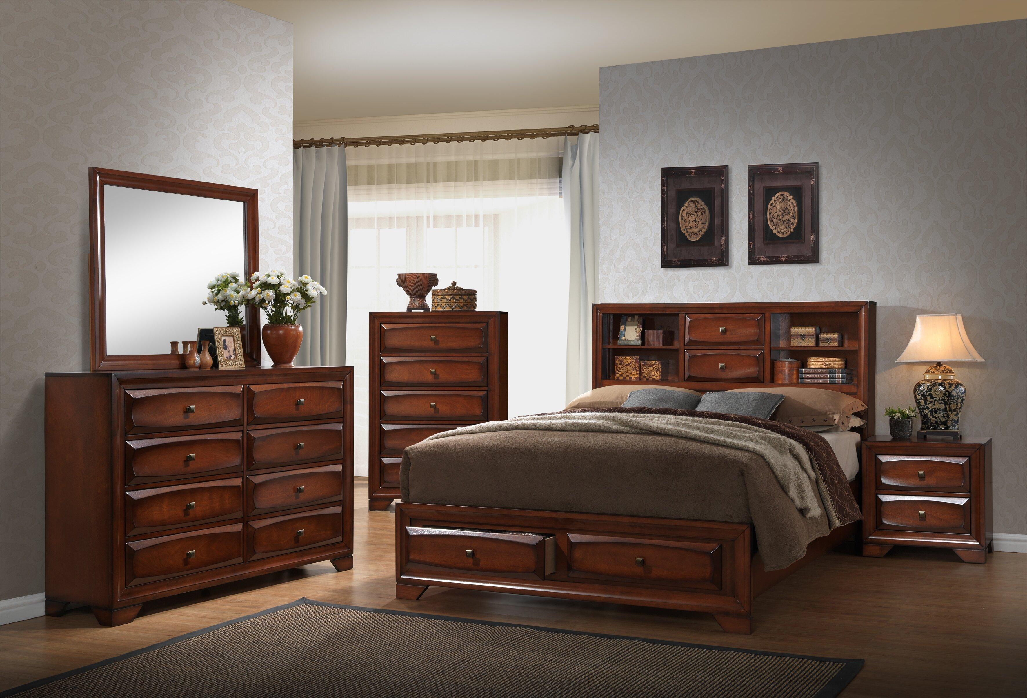 Winston Porter Granite Queen Platform 5 Piece Bedroom Set | Wayfair