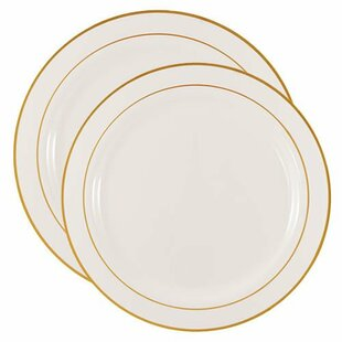 Endres Gold Lines 50 Piece Dinnerware Set  sc 1 st  Wayfair & Gold Trim Dinnerware | Wayfair