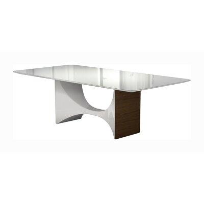 Enjoyable Modloftblack Camden Dining Table Color White Glass White Lacquer Machost Co Dining Chair Design Ideas Machostcouk