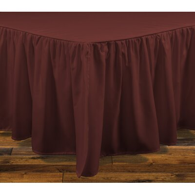 Brielle Stream 15 Bed Skirt Size: Twin, Color: Dark Red