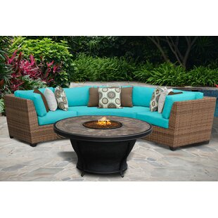 East Village 4 Piece Sectional Seating Group with Cushions by Rosecliff Heights