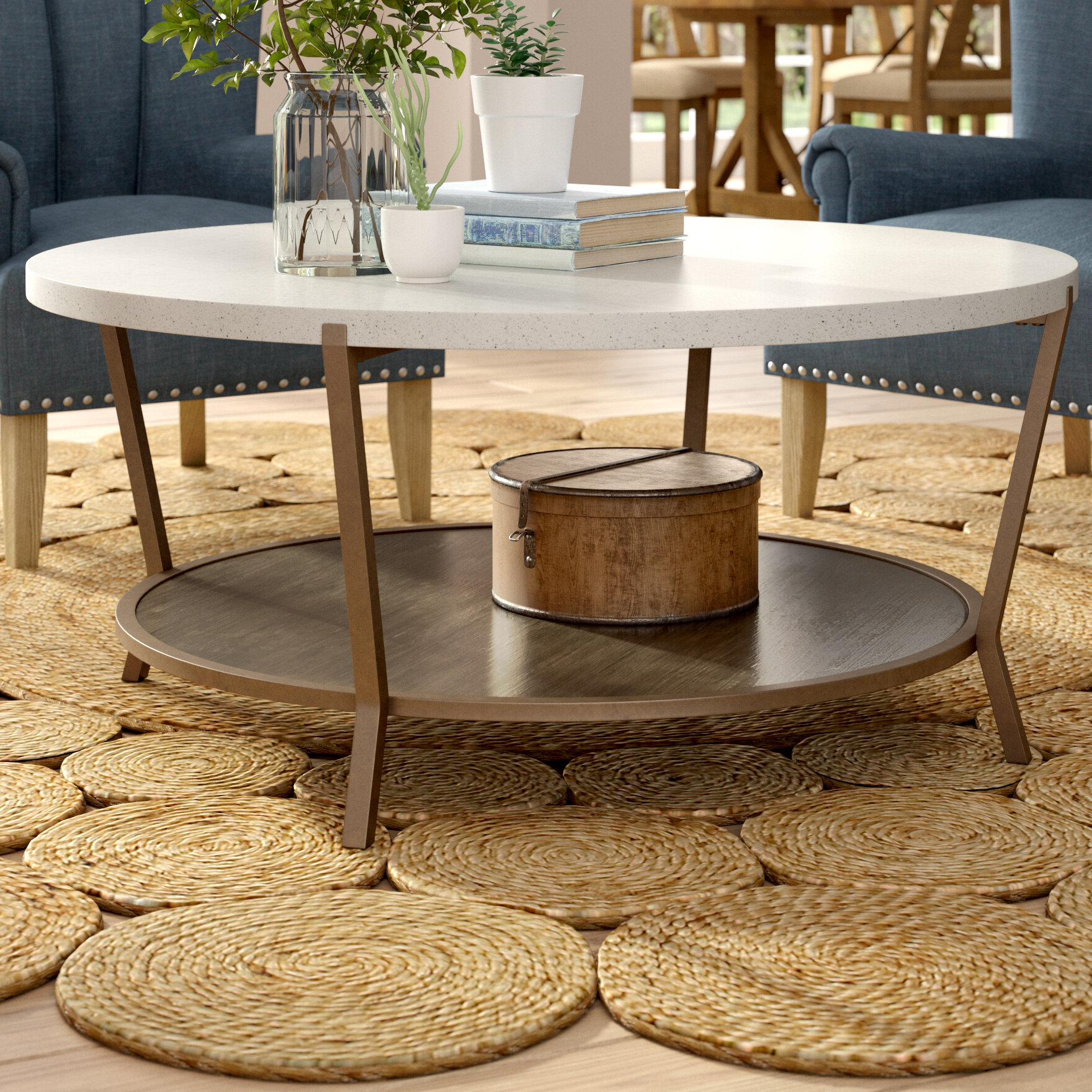 - Round Shelves Coffee Tables You'll Love In 2020 Wayfair