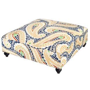 Divine Designs Paisley Print Ottoman