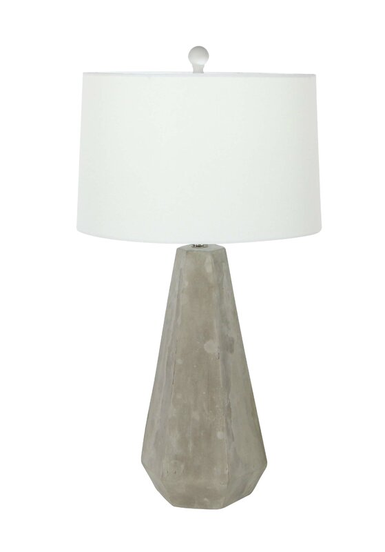 "Cement 28"" Table Lamp - Get the Look! Modern Rustic Interior Design in a Masculine Ski Chalet"