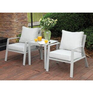 Rosecliff Heights Belleville 3 Piece Conversation Set with Cushions