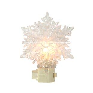 Penn Distributing Icy Crystal Decorative Snowflake Night Light