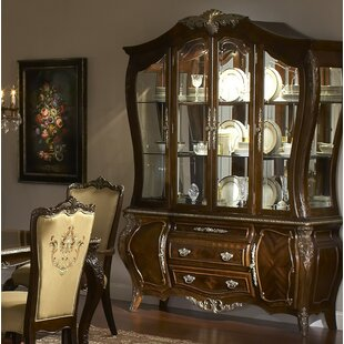 Michael Amini Imperial Court Lighted China Cabinet