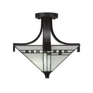 Eurig 2-Light Semi Flush Mount by Loon Peak