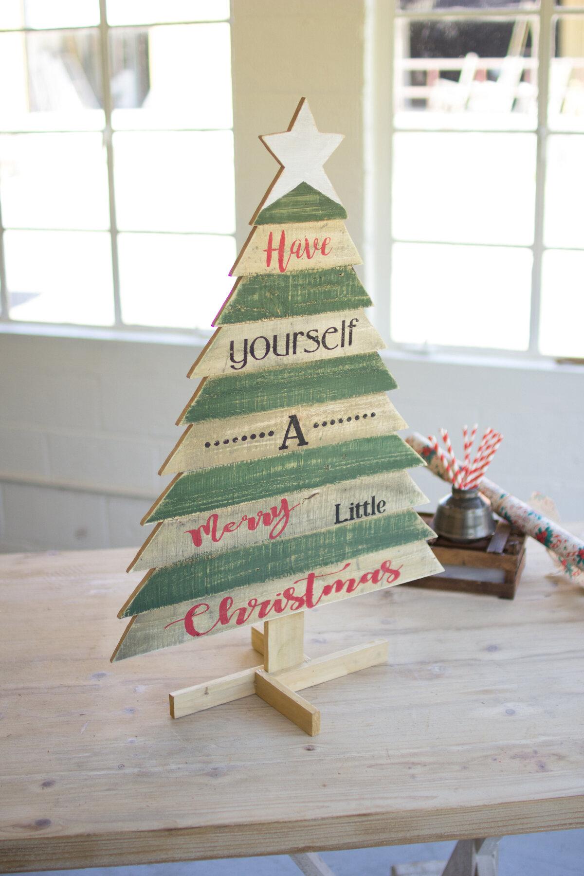 Wooden Christmas Trees.Wooden Christmas Tree With Saying