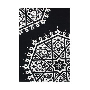 Find a Philomath Hand-Tufted White/Black Area Rug ByThe Conestoga Trading Co.