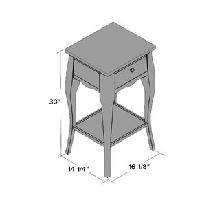 Online Reviews Waterfoot End Table ByBeachcrest Home