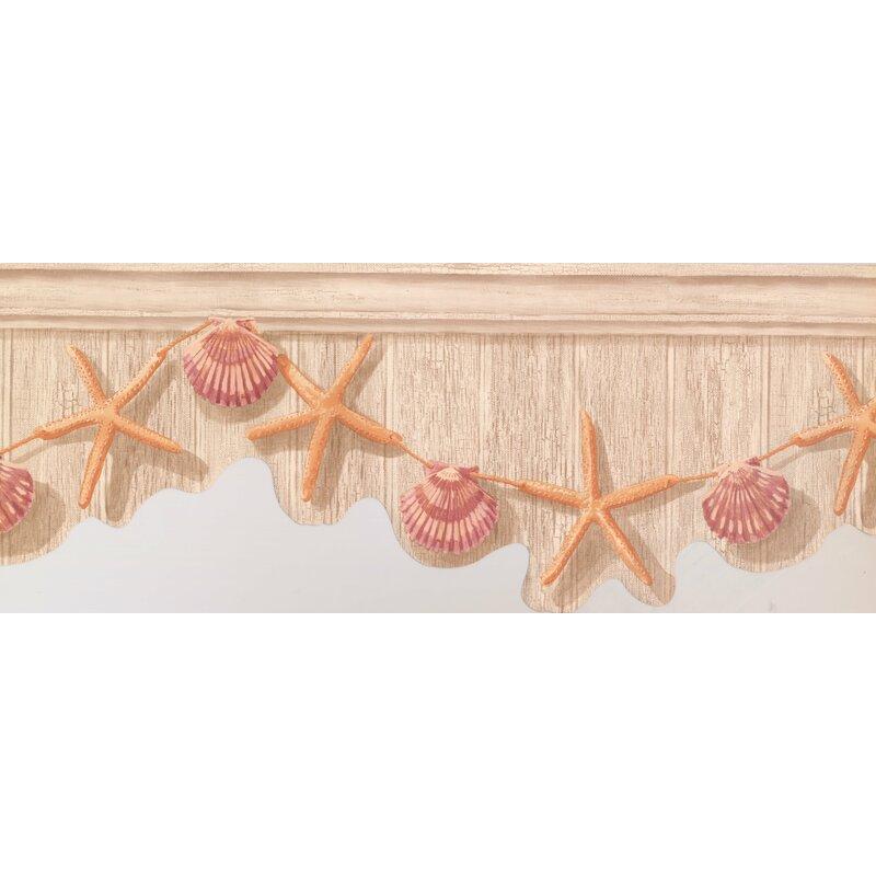 "York Wallcoverings Starfish Seashell 15' L X 10"" W"