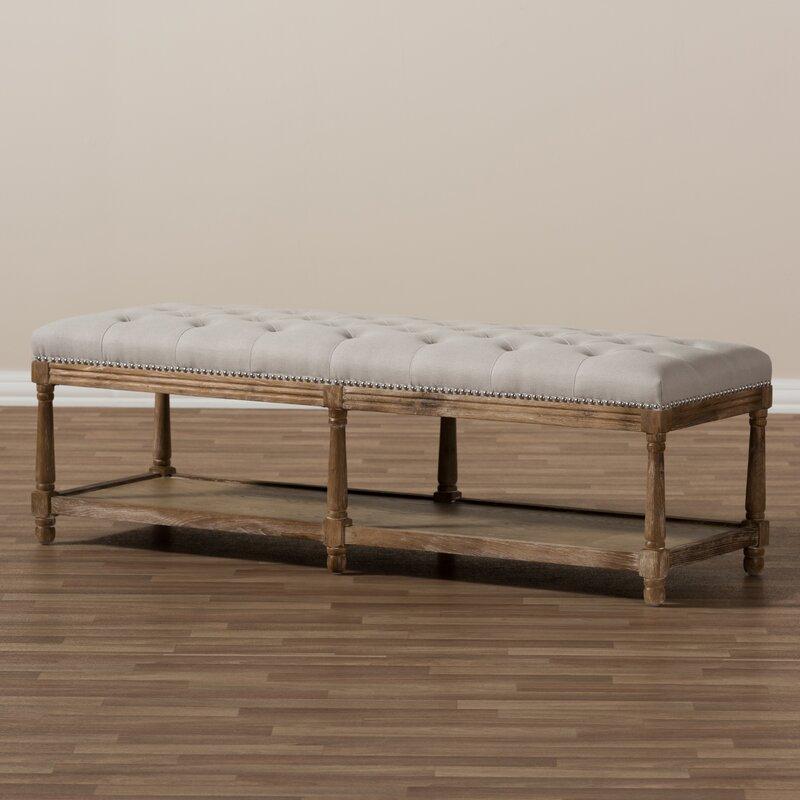 Bon Bem French Country Upholstered Storage Bench