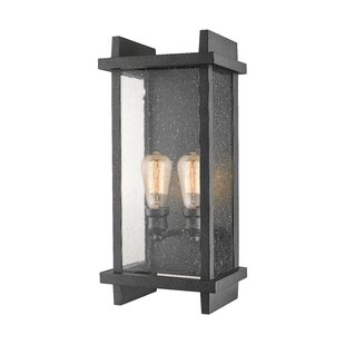 Read Reviews Beeching 2-Light Outdoor Sconce By Ivy Bronx