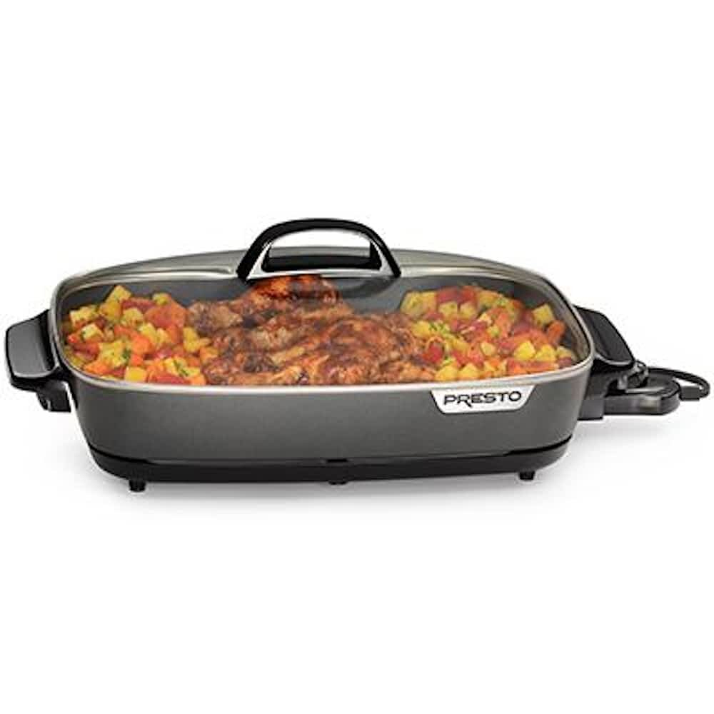Good Treasures 12 Non Stick Electric Skillet With Glass Lid Wayfair